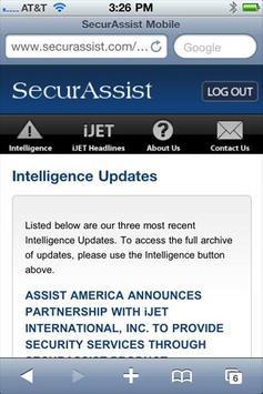 SecurAssist Mobile screenshot 1