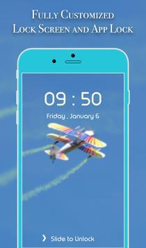 App Lock Theme - Airplanes apk screenshot