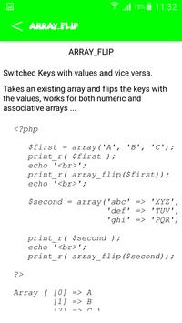 PHP Functions Reference (free) apk screenshot