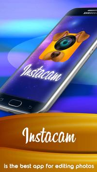 Free selfie camera editor, effect, emoji PRO poster