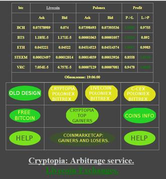 Crypto currency arbitrage. poster