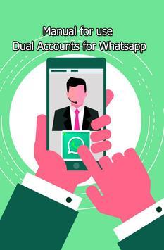 Tips for dual 2 account for WhatsApp screenshot 2