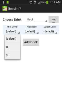 lim simi? (wanna drink what?) apk screenshot