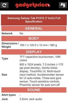 Gadget Price (Harga Handphone) apk screenshot