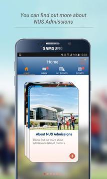 NUS Undergraduate Admissions screenshot 1