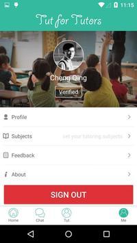 Tutormy for tutors apk screenshot