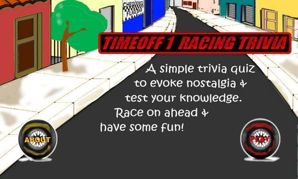 TimeOff1 Racing Trivia poster