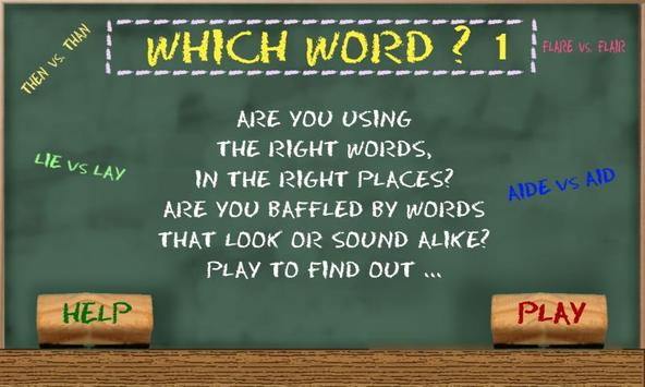 Which Word 1 poster