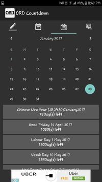 ORD Countdown Ultimate apk screenshot
