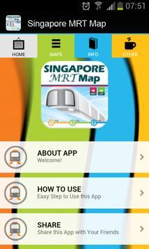 Singapore MRT Map poster