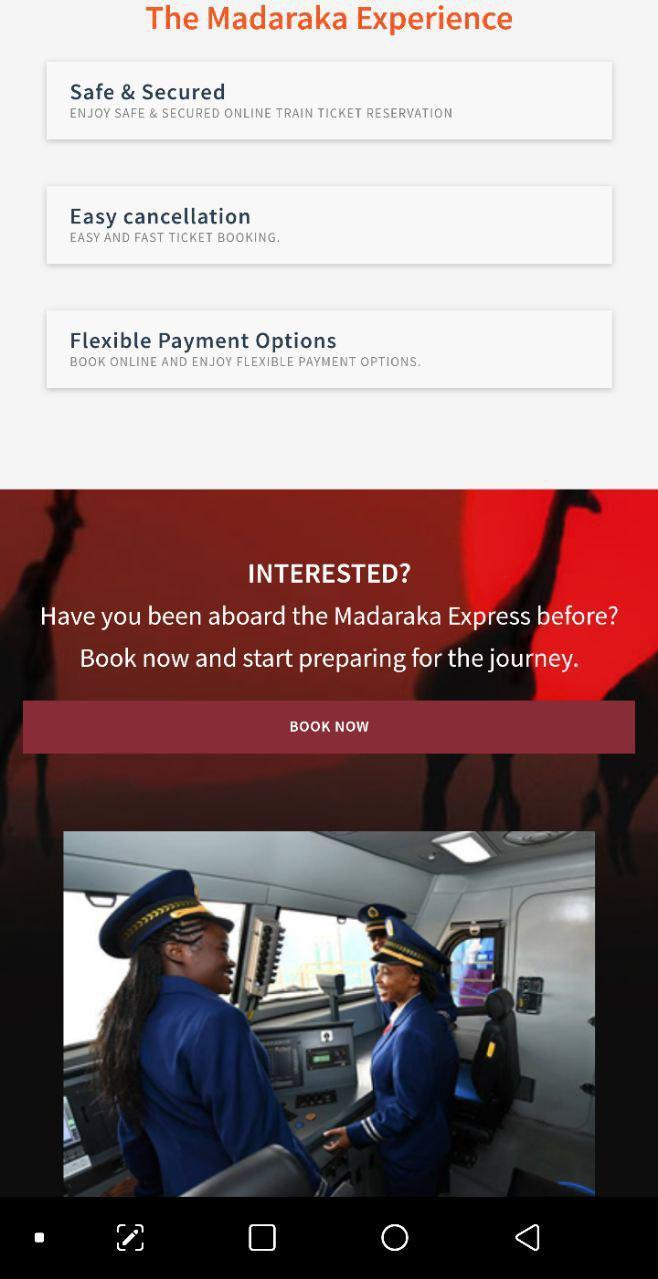 SGR Booking - Madaraka Express - Online Booking for Android