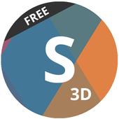 Next Launcher Theme Shado3D icon