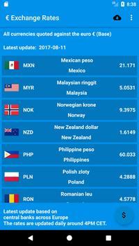 € Exchange Rates apk screenshot