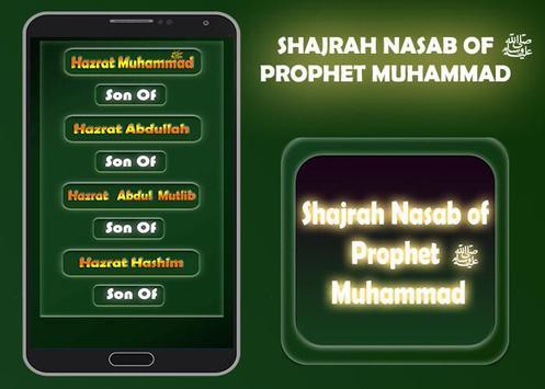 Shajrah Nasab of Prophet Muhammad poster
