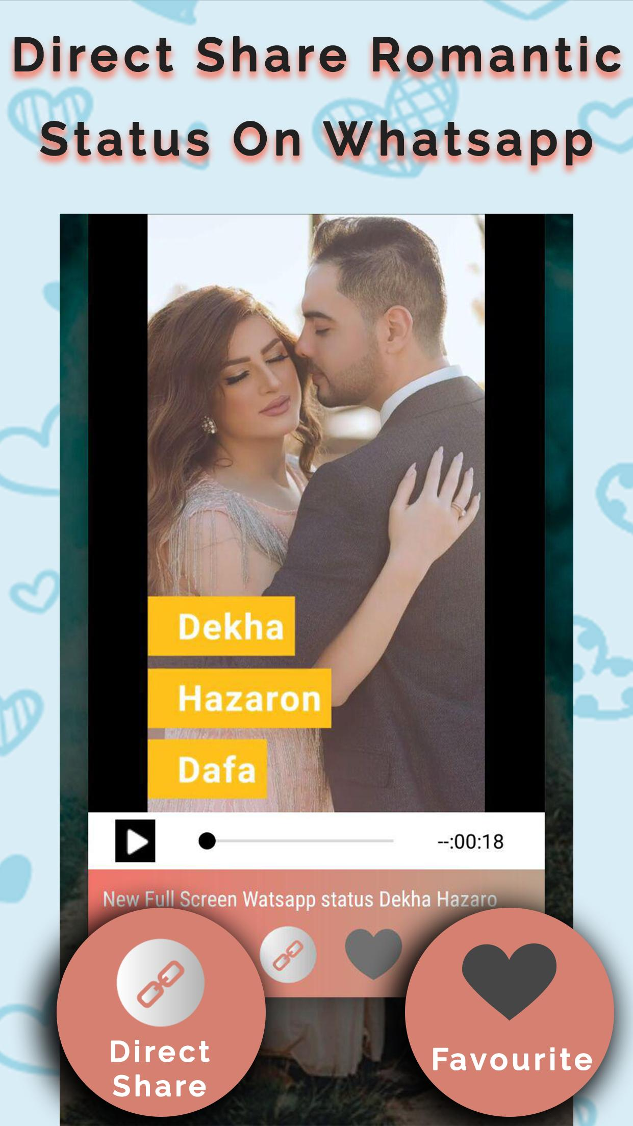 FullScreen Romantic Video Status for Whatsapp for Android