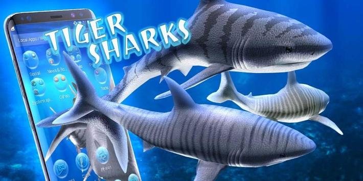 3D tiger sharks theme screenshot 3