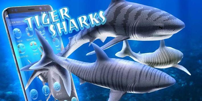 3D tiger sharks theme screenshot 3