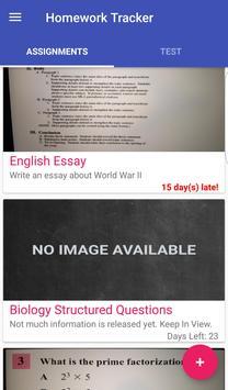 OUTSideC. - Homework Tracker screenshot 2