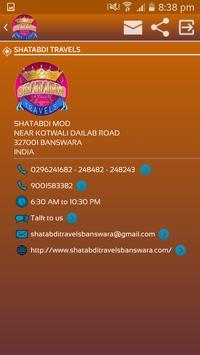 SHATABDI TRAVELS poster