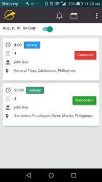 Shipping and Delivery Driver App screenshot 1