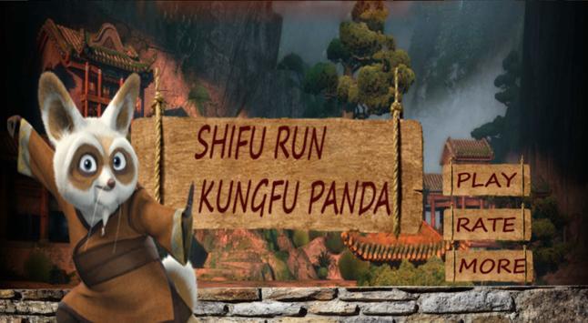 Shifu Run Kungfu Panda poster