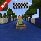 Sewer boat racing map for MCPE icon