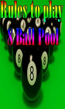 Rules to play 8 Ball Pool poster