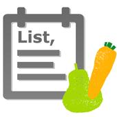 Shopping list app icon