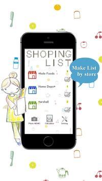 Shopping list app apk screenshot