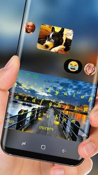 Dawn Dock Keyboard Blue Yellow Sky apk screenshot