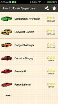 How To Draw Supercars screenshot 1