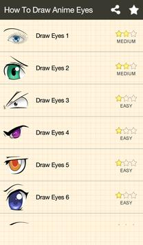 How To Draw Anime Eyes screenshot 1