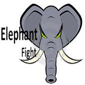 elephant fight icon