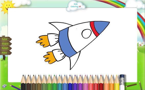 Kids Coloring Book 2D apk screenshot