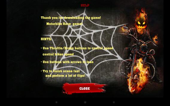 Halloween Bike rider game screenshot 1