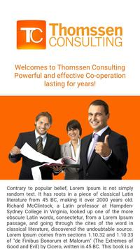 Thomssen Consulting (Demo) poster