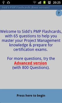 Sidd's PMP Flashcards Basic poster
