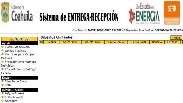 Siere Municipal Coahuila MX - Entrega Recepción CM screenshot 3