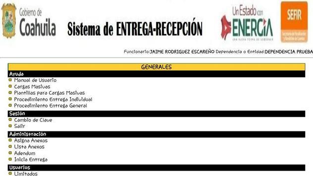 Siere Municipal Coahuila MX - Entrega Recepción CM screenshot 1