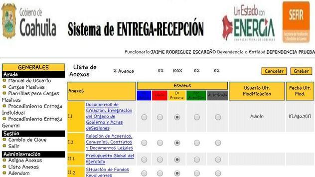 Siere Municipal Coahuila MX - Entrega Recepción CM screenshot 2