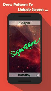 Signature Lock Screen poster