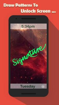 Signature Lock Screen screenshot 23