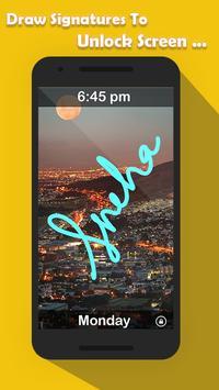 Signature Lock Screen screenshot 2