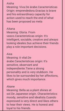 Meaning Female Names screenshot 3