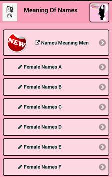 Meaning Female Names poster