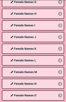Meaning Female Names screenshot 1
