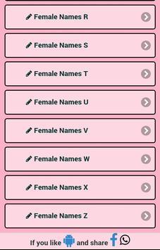 Meaning Female Names screenshot 2