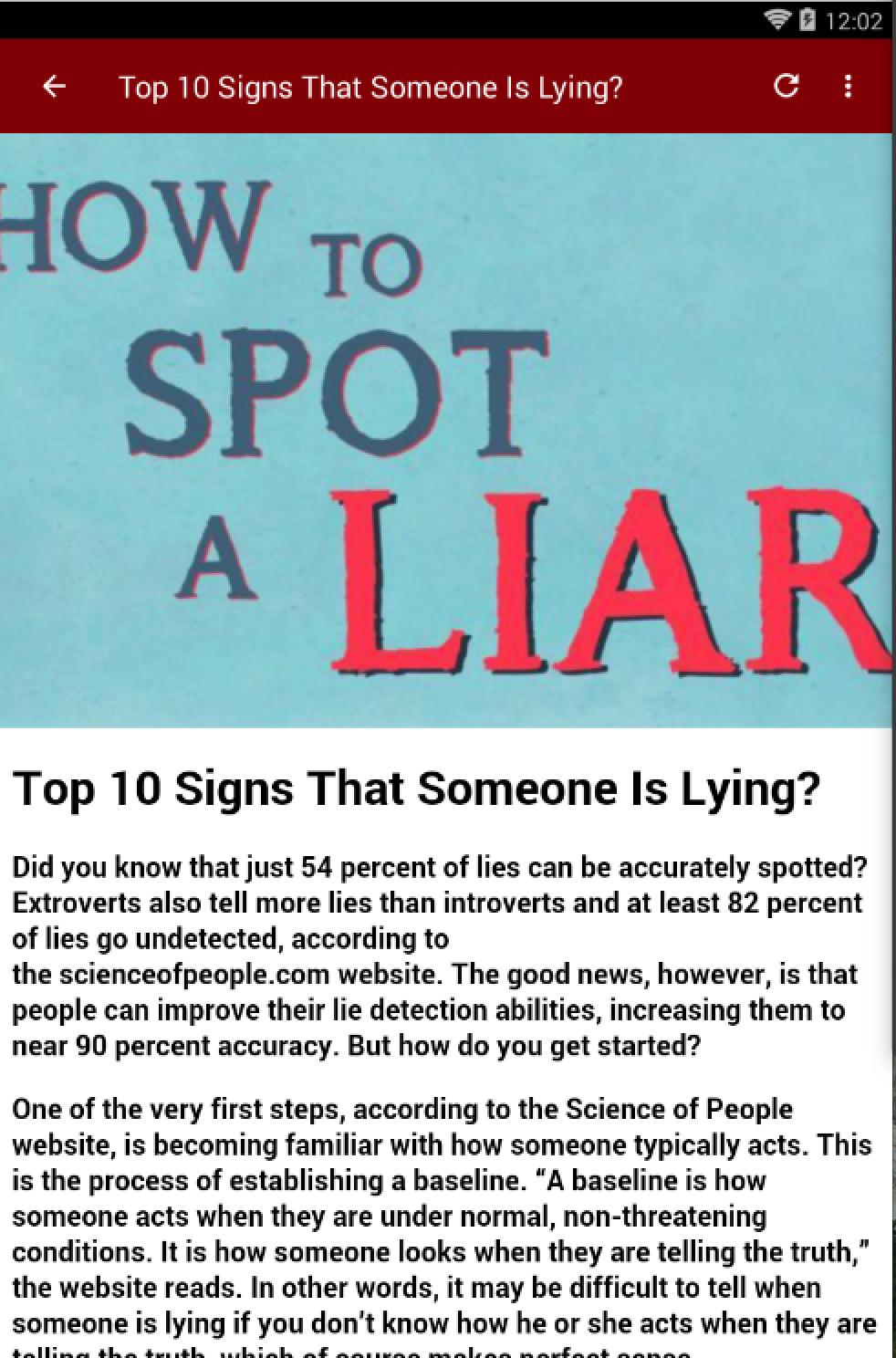 Tell signs to is you someone if lying to 9 Signs