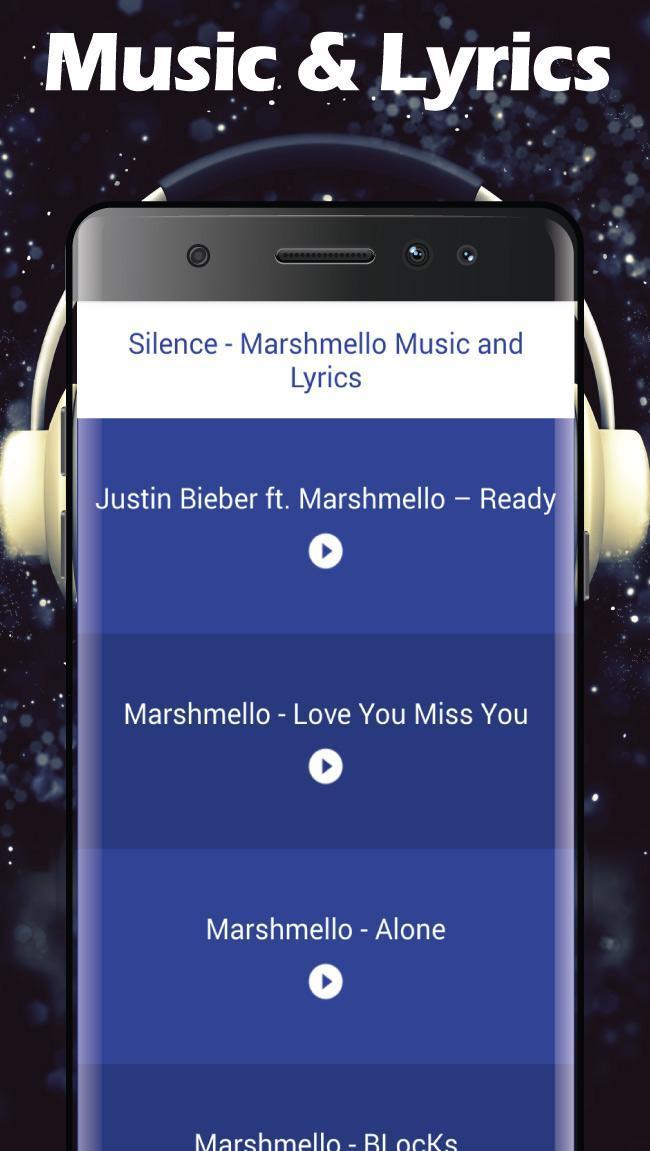 Silence - Marshmello Music & Lyrics cho Android - Tải về APK