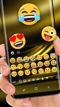 Silk Gold Luxury Keyboard Theme screenshot 1